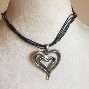 Heart valentine necklace